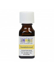 Aura Cacia Precious Essential Oil Sandalwood in Jojoba Oil 0.50 oz