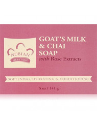 Nubian Heritage Soap Bar, Goats Milk and Chai, 5 Ounce