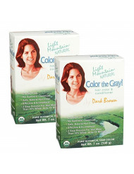 Light Mountain Natural Color The Gray! Hair Color & Conditioner, Dark Brown, 7 oz, (Pack of 2)