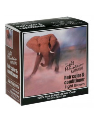 Light Mountain Natural Hair Color & Conditioner, Light Brown, 4 oz (113 g) (Pack of 3)