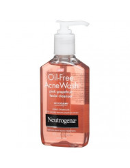 Neutrogena Oil-Free Acne Wash Facial Cleanser, Pink Grapefruit, 6 Ounce