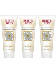 Burt's Bees Soap Bark and Chamomile Deep Cleansing Cream, 6 Ounces - Pack of 3