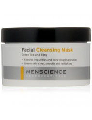 MenScience Androceuticals Facial Cleansing Mask, Green Tea & Clay, 3 oz