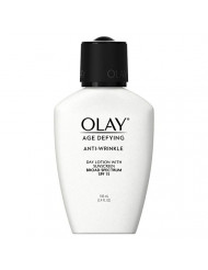 Face Moisturizer by Olay Age Defying, Anti-Wrinkle Day Lotion with Sunscreen, Broad Spectrum , SPF 15, 3.4 Oz. (Pack of 2) Packaging may Vary
