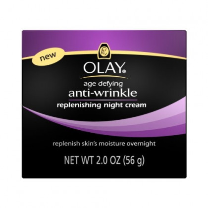 Olay Age Defying Anti-Wrinkle Night Cream, 2 Ounce (Pack of 2)