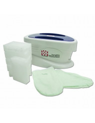 Waxwel Paraffin Wax Bath Unit w/Unscented Kit: Includes 6 lb Unscented Wax, 100 Liners, 1 Mitt, 1 Bootie