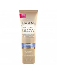 Jergens Natural Glow +FIRMING Body Lotion, Fair to Medium Skin Tone, 7.5 Ounce Sunless Tanning Daily Moisturizer with Collagen and Elastin