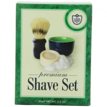 Van Der Hagen Premium Shave Set (2.5 oz. Soap, Bowl, Brush)