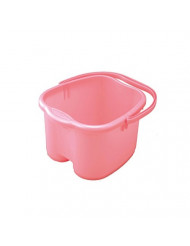 Inomata Foot Detox Massage Spa Bucket, Pink