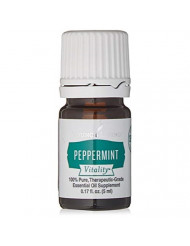 Vitality Peppermint Essential Oil 5ml by Young Living Essential Oil 100% Pure Therapeutic Grade