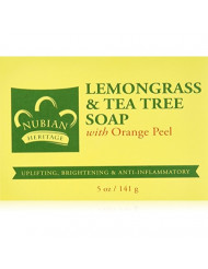 Nubian Heritage Lemongrass & Tea Tree Bar Soap, 5 oz