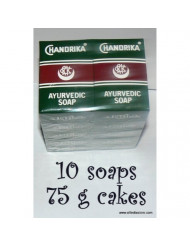 Chandrika Soaps (pack of 10) 75 gram bars - MANUFACTURE DATE 2014 THERE IS NO EXPIRATION DATE ON CHANDRIKA SOAPS