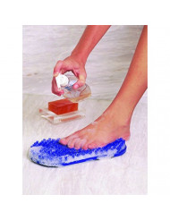 Soapy Soles Foot Scrubbing Pad & Massager, Pearl Blue