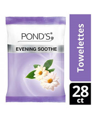Ponds Wet Cleansing Towelettes, Evening Soothe, 28 Count (Pack of 2)