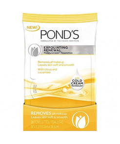 Pond's Moisture Clean Towelettes, Exfoliating Renewal 28 count- pack of 2