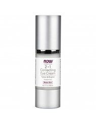 NOW Solutions, Eye Cream, 2 in 1 Correcting to Tighten and Brighten the Eye Area, 1-Ounce