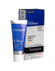 Neutrogena Ageless Intensives Anti Wrinkle Cream - Facial Moisturizer with SPF 20 Sunscreen, Retinol and Hyaluronic Acid to Fight Signs of Aging, Retinol, Hyaluronic Acid, Glycerin 1.4 oz (Pack of 3)