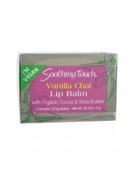 Soothing Touch, Lip Balm, Vegan, Vanl Chai, 12 in a case Net WT.25 OZ (7g)