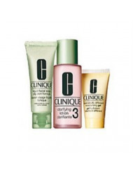 Clinique 3 Steps system for Oily/Oily Combination Skin Set: dramatically moisturizing Gel 4.2 oz / 125 ml + Clarifying Lotion 3 13.5 oz / 400 ml + Liquid Facial Soap Oily Skinild 6.7 oz / 200 ml