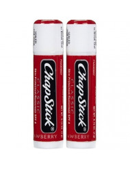 ChapStick Classic, Skin Protectant/Sunscreen SPF 4, .15 Oz.,Strawberry (Value Bundle 2 Pack)