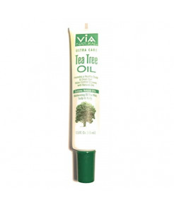 VIA Natural Ultra Care Tea Tree Oil Concentrated Natural Oil 1.5oz - Promotes A Healthy Scalp & Clean Hair. Natural Antibacterial Oil, Helps Control Dryness and Dandruff by Via Natural