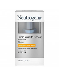 Neutrogena Rapid Wrinkle Repair Moisturizer, SPF 30, 1 oz (Pack of 2)