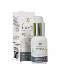 Y-Not Natural - Organic Pharmaceutical 100% Pure Emu Oil (60 ml)   Free Range Aboriginal Omega 3, 6 & 9 Oil for Hypoallergenic Skin Care, Hair and Healing   All Natural Source of Vitamin K2