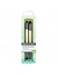 EcoTools Eye Enhancing Duo Brush Set Define Blend & Smudge Eyeshadow & Liner