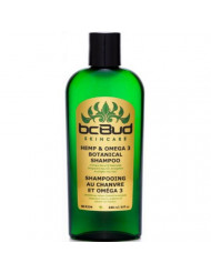 Hemp & Omega 3 Botanical Shampoo, Sulfate Free, SLS Free, for Itchy Scalp, Oily, Thinning, Color Treated Hair, Volumizing for Soft, Healthy, Shiny Hair, with Natural Hemp Seed Oil, Aloe (Single)