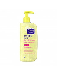 Clean & Clear Morning Burst Skin Brightening Facial Cleanser with Caffeine, Lemon & Papaya, Gentle Daily Citrus Face Wash for All Skin Types, Oil-Free & Non-Comedogenic, 8 Fl Oz (Pack of 6)