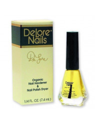 Delore for Nails Organic Nail Hardener and Nail Polish Dryer, 0.25 Ounce (Pack of 6)