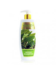 Heena with Green Tea Extracts Shampoo Smoothing Shampoo ALL Natural Paraben Free Sulfate Free Scalp Therapy Suitable for All Hair Types - 11.8 Ounces - Vaadi Herbals