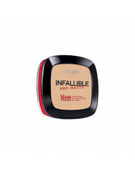 L'Oreal Paris Makeup Infallible Pro-Matte Powder, lightweight pressed face powder, 16hr shine-defying matte finish, absorbs excess oil and reduces shine, pro-look and long wear, Porcelain, 0.31 oz.