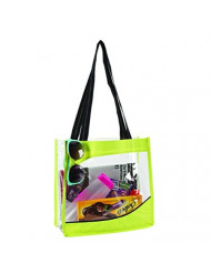 Goodhope Clarity Clear Tote Bag Lime