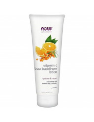 Now Solutions, Vitamin C and Sea Buckthorn Lotion, Hydrates, Rapairs and Nourishes Dry Dull Skin, 8-Ounce
