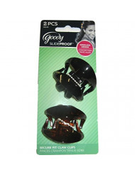 Goody WoMen Slideproof Wingless Claw Clip, Small, 2 Count
