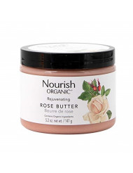 Nourish Organic Rejuvenating Body Butter, Rose Butter, Fair Trade, 5.2 Ounce (Packagin may vary)