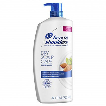 Head and Shoulders Dry Scalp Care with Almond Oil Anti-Dandruff Shampoo 32.1 Fl Oz (Packaging May Vary)