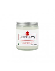 Organic Warming Intimate Body Creme by Modern Love Essentials - Coconut Based, Organic, Natural - Flavored with Cinnamon & Clove Essential Oils