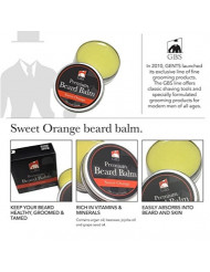 GBS Sweet Orange All Natural Premium Beard Balm Leave in Conditioner - Styles Strengthens and softens Beards and Mustaches Premium Wax for Men