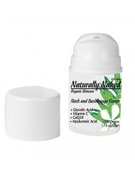 Neck and Decolletage Cream, 1.7 oz (50 ml), Tighten, Firm and Smooth Sagging Neck and Chest Skin, Wrinkles & Fine Lines. AHA cream 5% Glycolic Acid. 4% vitamin C, 70% Organic, Kosher Cert. Mat.