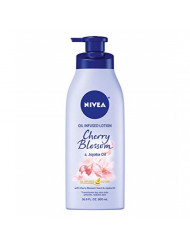 NIVEA Oil Infused Body Lotion Cherry Blossom and Jojoba Oil, 16.9 Fluid Ounce