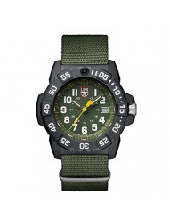 Luminox Men's SEA Stainless Steel Swiss-Quartz Watch with Nylon Strap, Green, 24 (Model: 3517)