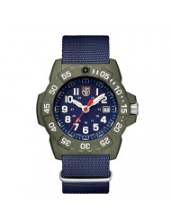 Luminox Men's SEA Stainless Steel Swiss-Quartz Watch with Nylon Strap, Blue, 24 (Model: 3503.ND)