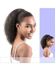 Wrap Drawstring 100 Human Hair Ponytail Extensions Coarse Curly Afro Kinky Straight Italian Yaki Curly Top Closure Clip Ins Ponytail Human Hair Extensions for African American Women 100g/pcs