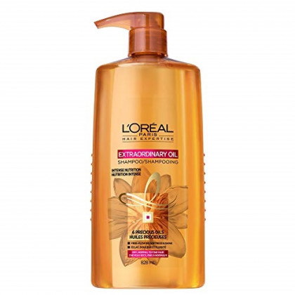 L'Oreal Paris Elvive Extraordinary Oil Nourishing Shampoo, for Dry or Dull Hair, Shampoo with Camellia Flower Oils, for Intense Hydration, Shine, and Silkiness, 28 Fl. Oz