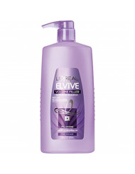 L'Oreal Paris Elvive Volume Filler Thickening Cleansing Shampoo, for Fine or Thin Hair, Shampoo with Filloxane, for Thicker Fuller Hair in 1 Use, 28 fl. oz.
