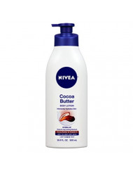 Nivea Lotion Cocoa Butter 16.9 Ounce Pump (Dry To Very Dry Skin) (500ml) (3 Pack)