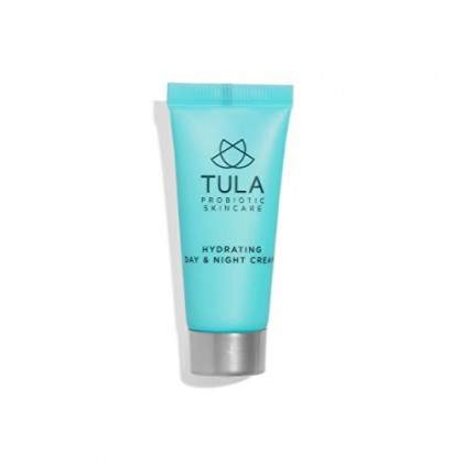 TULA Probiotic Skin Care Hydrating Day and Night Cream (Travel-Size) | Moisturizer for Face, Anti Aging Face Cream, Contains Watermelon Fruit and Blueberry Extract |0.5 oz
