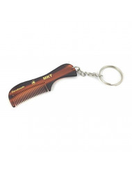 "GBS Handmade Sawcut Men's Beard Mustache Comb - with Keychain - 2 3/4"" 73mm For All Length Hair Types"